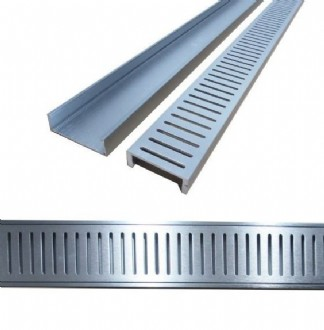 STRIP DRAIN ALUMINIUM GRATE 70MM (1LM) -CELLENI - PLEASE NOTE:  Please ensure your measurements are correct - Once these have been cut for you there are NO RETURNS.